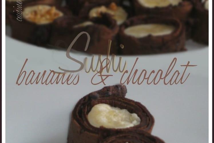 Sushi bananes & chocolat