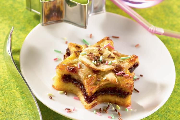 Petite tarte banane-pâte à tartiner
