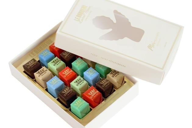 Les mini pralinés de Laurent Moreno chez Le Bonheur Chocolaterie
