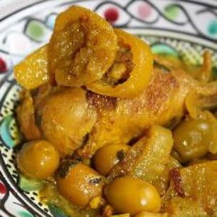 poulet épicé aux citrons confits