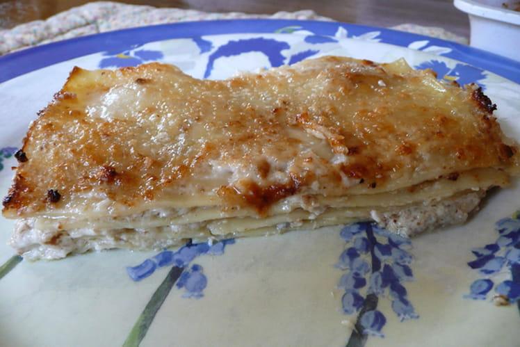 Lasagnes fromages et noix