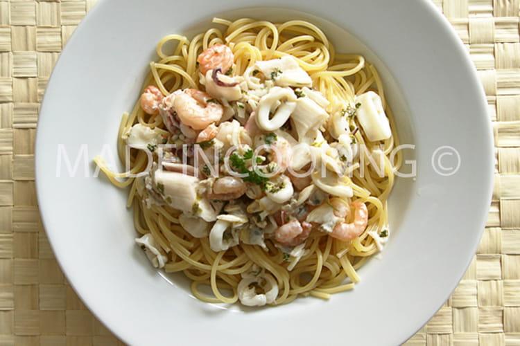 Spaghettis aux fruit de mer