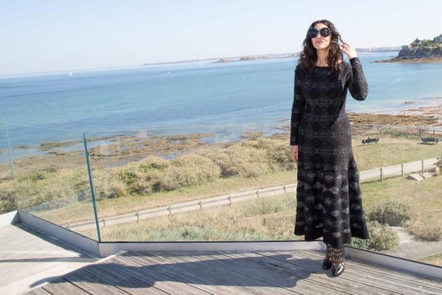 Monica Bellucci, présidente en noir du jury du Dinard Film Festival