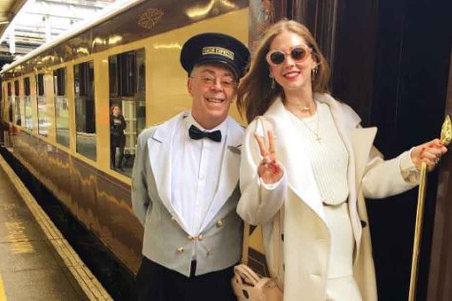 Le look blogueuse de la semaine : Chiara Ferragni à bord du Dior Express