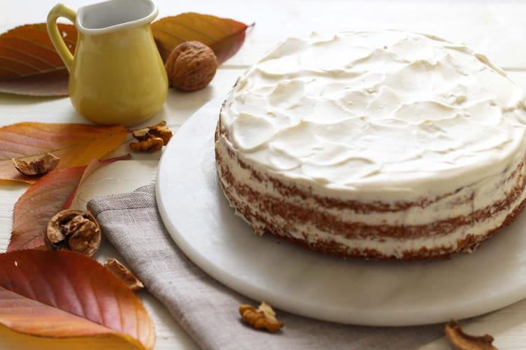 Layer carrot cake avec sa crème au sirop d'érable