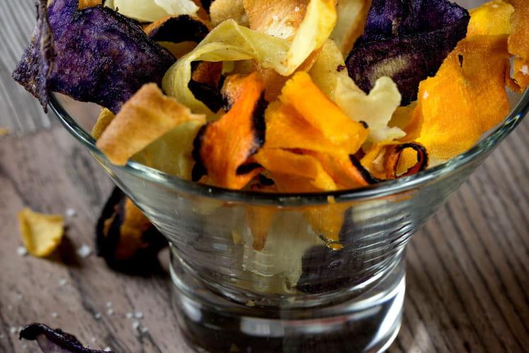 Chips de légumes d'hiver