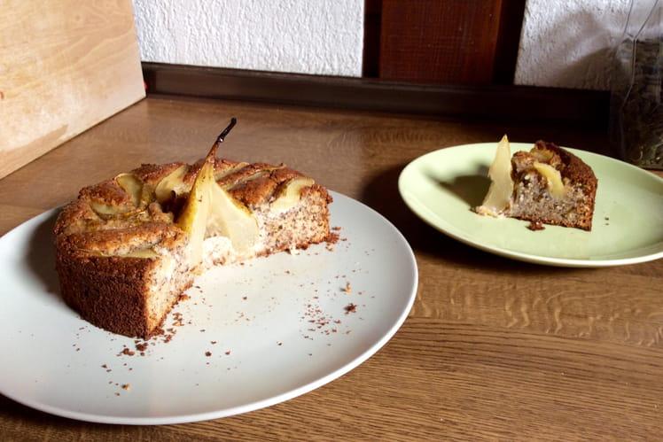 Gâteau noisette, poire, ricotta