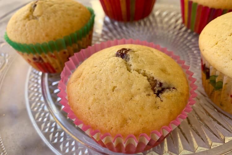 Muffins cœur pâte à tartiner