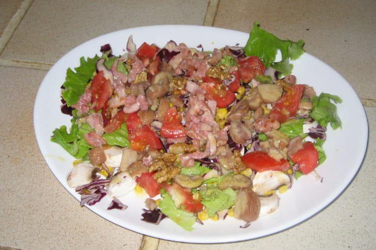 Salade aux marrons et aux noix