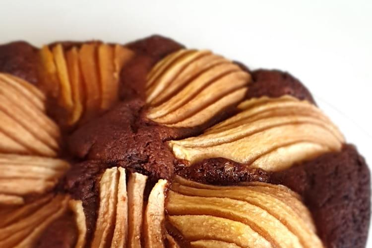 Gâteau chocolat et poires sans gluten