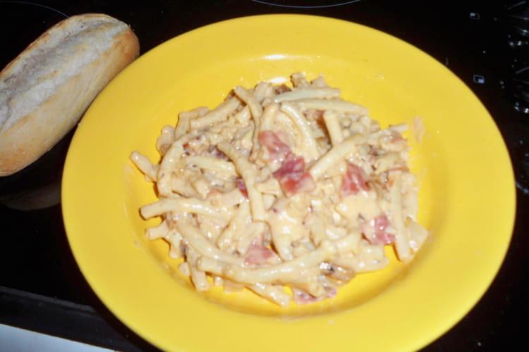 Macaroni aux 3 fromages et jambon de Parme