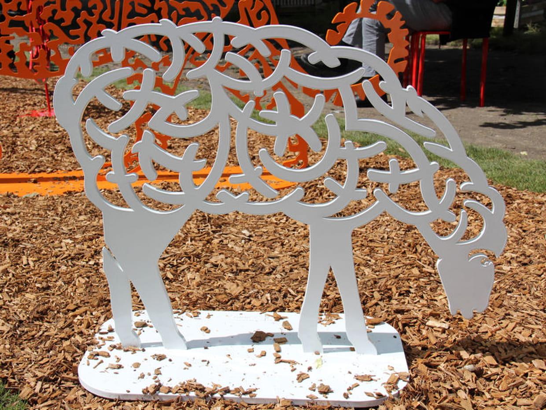 Bestiaire d 39 art au jardin for Mouton deco jardin