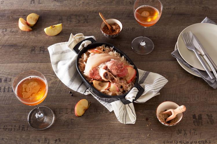 Jarret de porc braisé au cidre