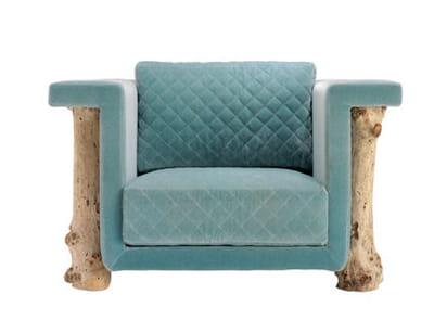fauteuil ' mattak' de bleu nature
