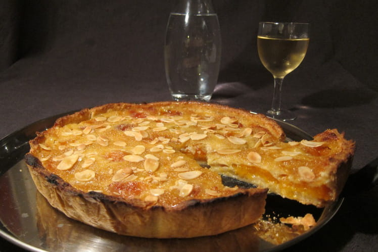 La vraie tarte amandine aux abricots