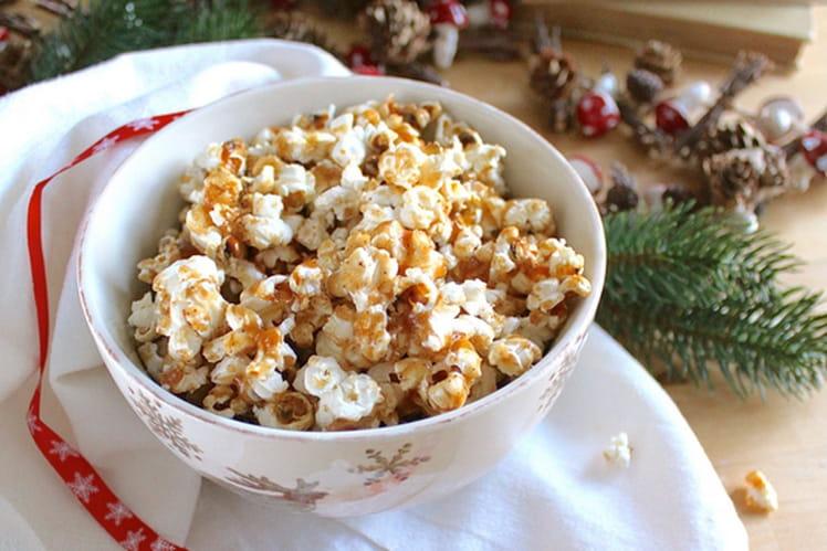 Popcorn au sirop d'érable et épices pain d'épices