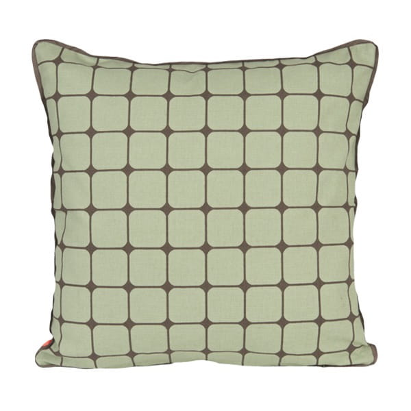 Le coussin vert jade