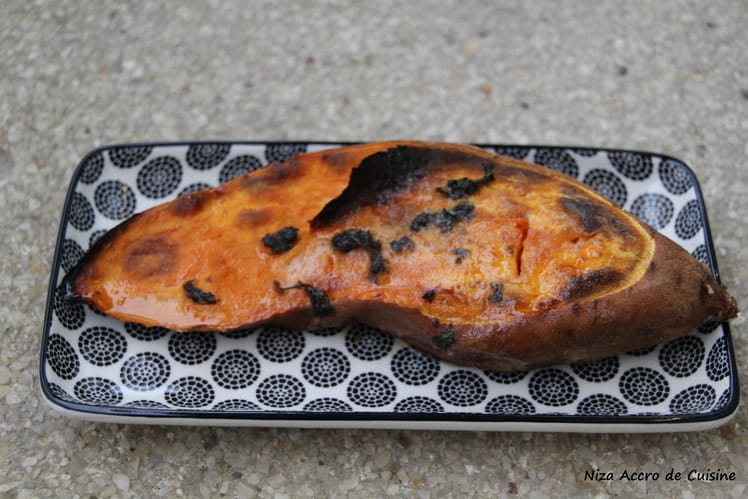 Patate douce fondante au four