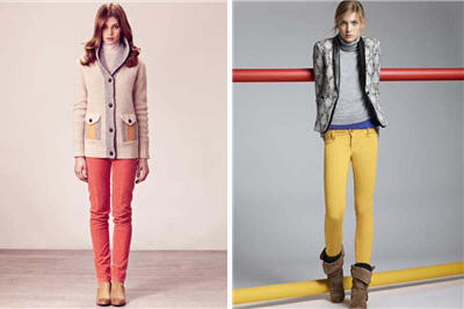 Tendance jean automne-hiver 2012-2013: le denim prend des couleurs