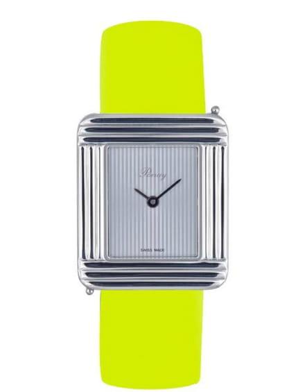 Montre Poiray Ma Première à bracelet interchangeable fluo