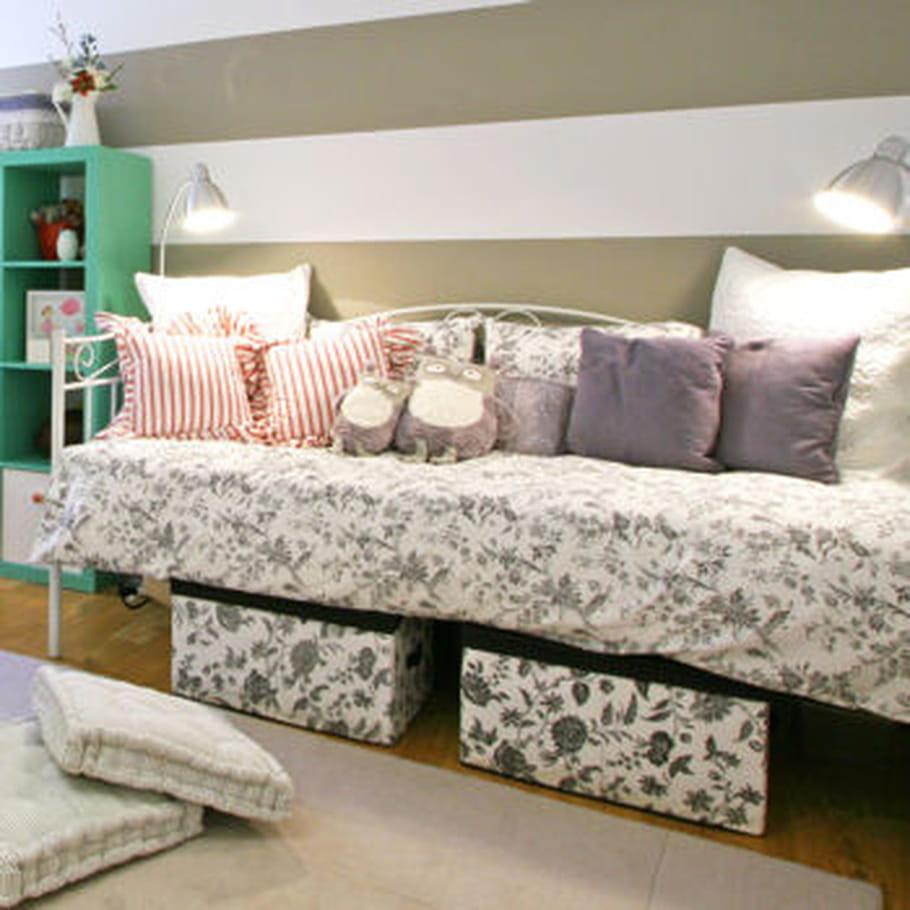 solution n 2 les bacs sous le lit. Black Bedroom Furniture Sets. Home Design Ideas