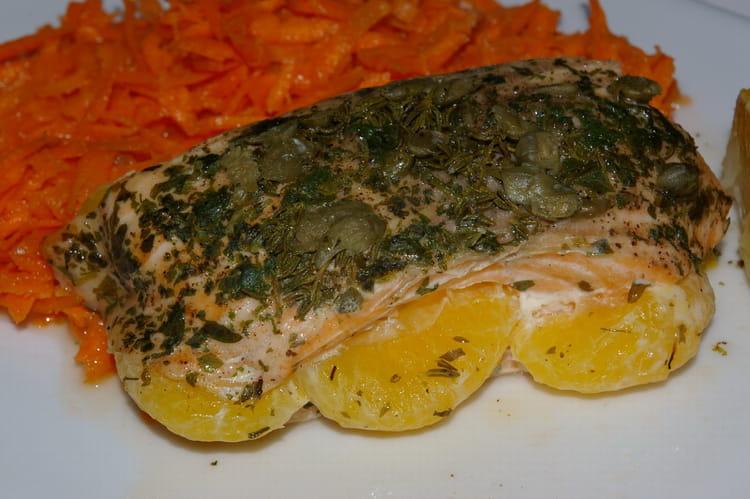 Recette de saumon la mandarine la recette facile - Cuisiner poisson congele ...