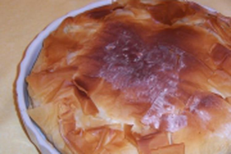 Tourte de pommes de terre à la crème fraîche