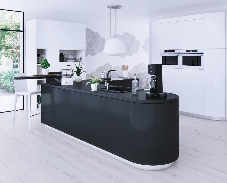 L 39 lot de cuisine moderne - Ilot cuisine pour manger ...