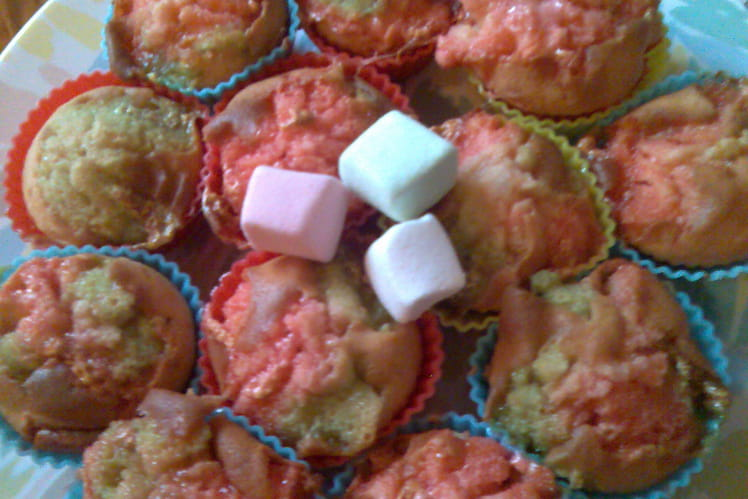 Muffins roses aux Chamallow