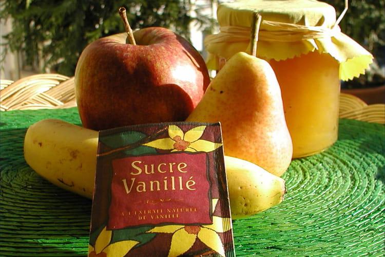 Confiture de poires, pommes et bananes