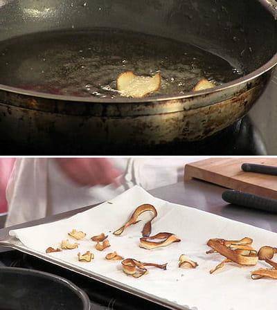 cuisson des chips de salsifis et topinambours