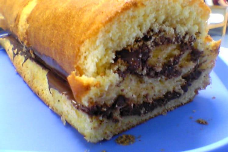 Roulé au Nutella et cacao en poudre