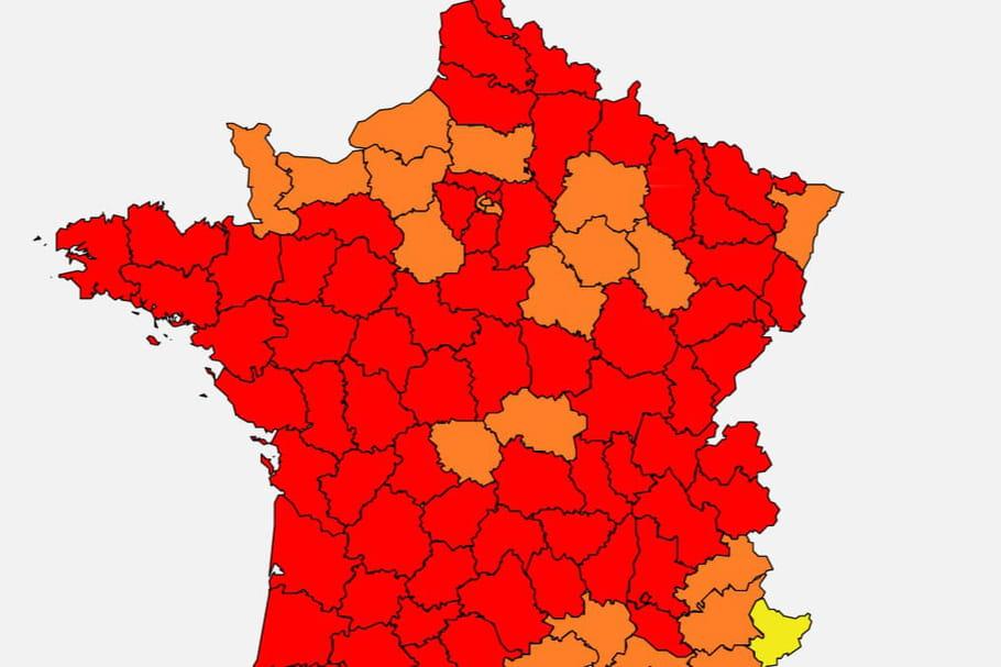 Carte des pollens2020: très forte attaque en France