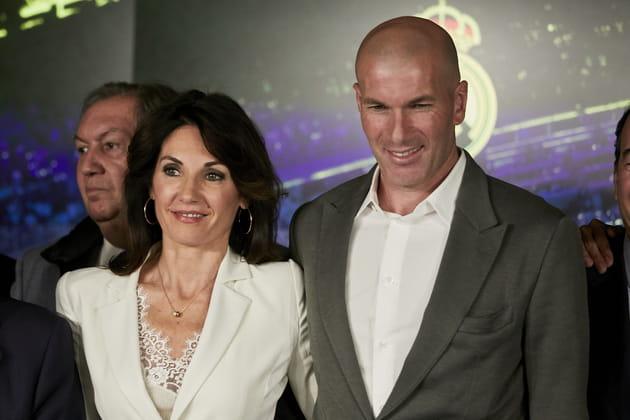 Zidane et sa femme Véronique pour son retour au Real Madrid