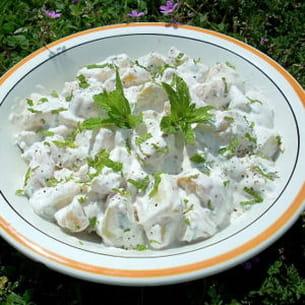 salade de pommes de terre à la menthe