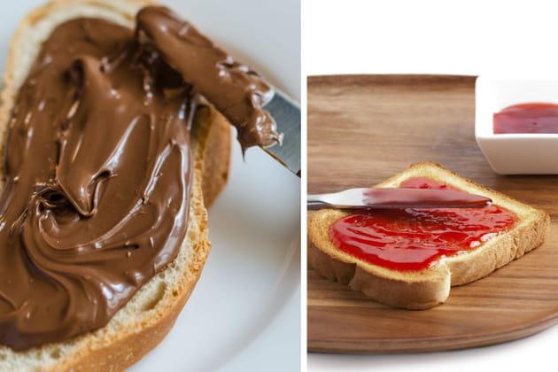 Tartine de pâte à tartiner ou confiture?