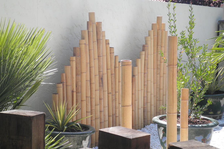 Panneaux de bambou for Jardin deco