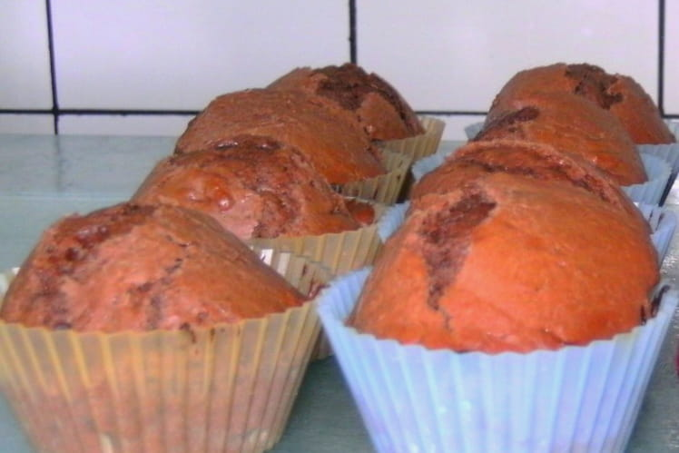 Muffins au chocolat, coeur coulant