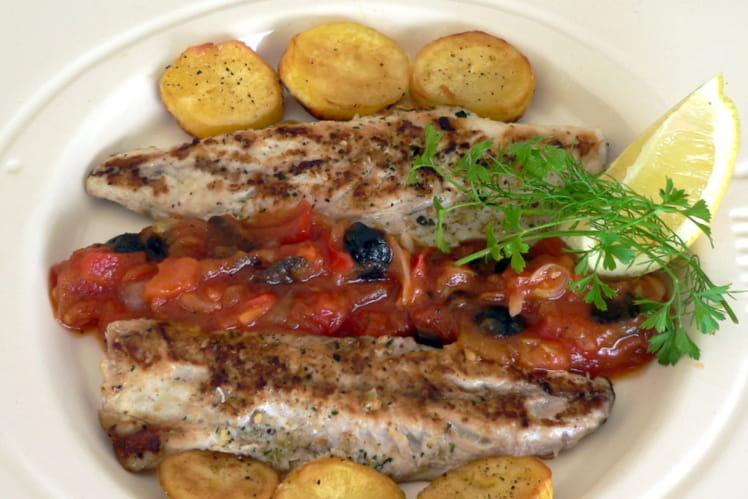 Filets de maquereaux et compotée de tomates
