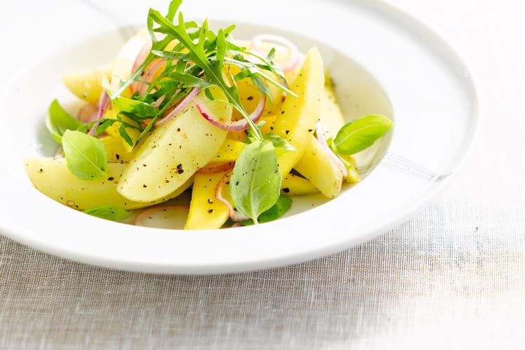 Salade estivale de pommes de terre primeurs à la mangue