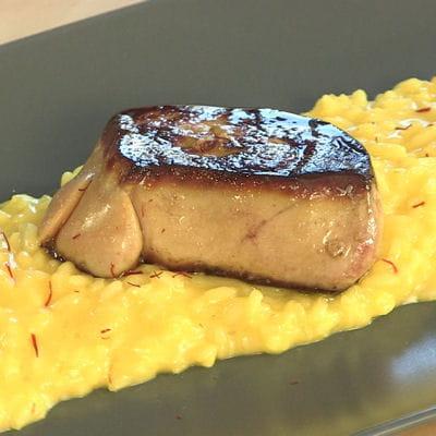 risotto milanese au foie gras et safran
