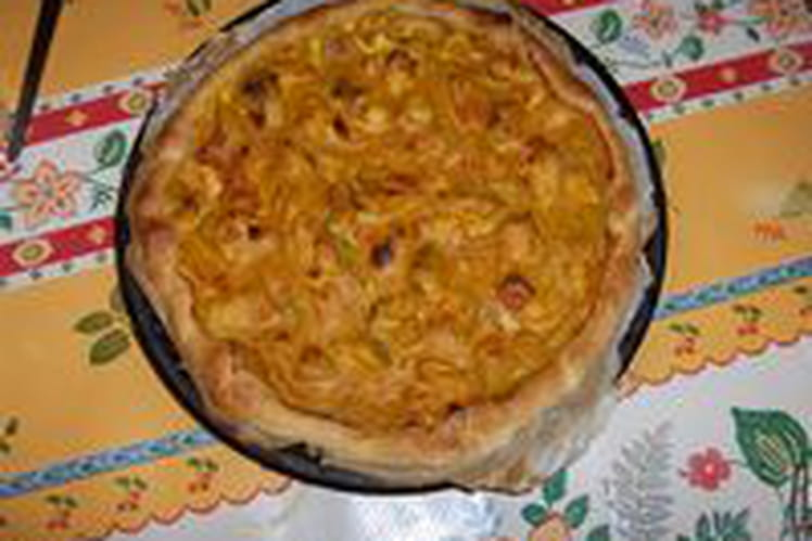 Poulet au curry en quiche