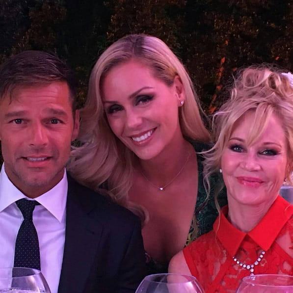 Ricky Martin, Heidi Balvanera et Melanie Griffith