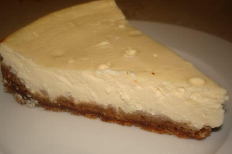 Cheesecake nature, pâte aux spéculoos