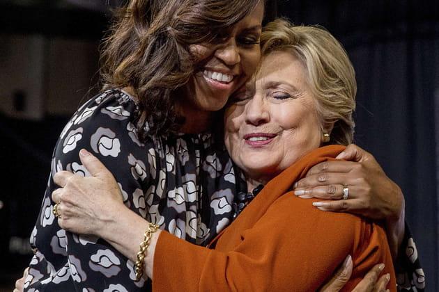 Michelle Obama et Hillary Clinton font amies-amies... en Caroline du Nord