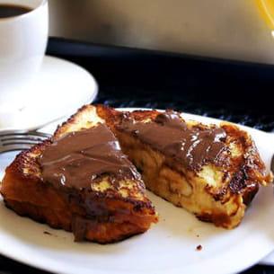 pain perdu à la banane et nutella