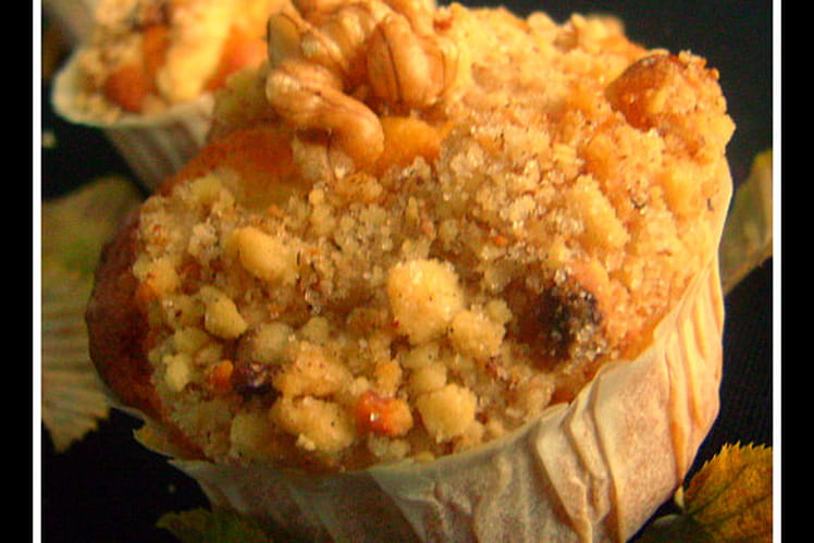 Muffins pear streusel