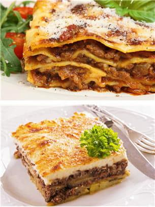 moussaka ou lasagnes.