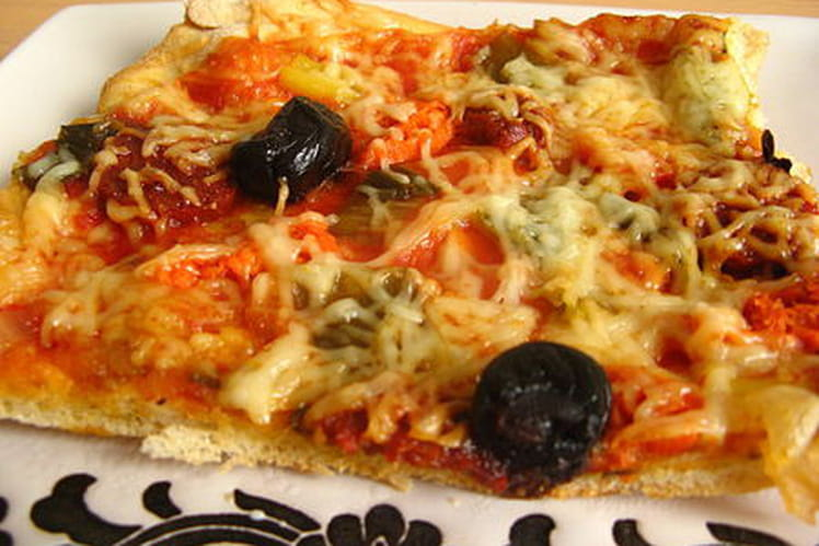 Pizza au chorizo et poivron