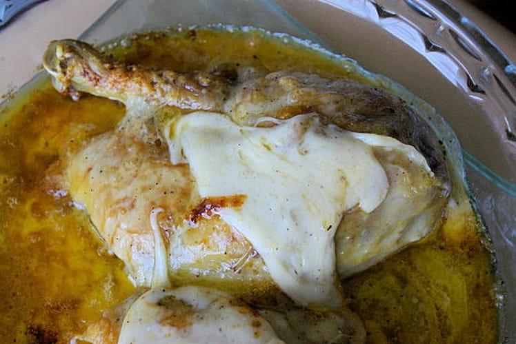 Cuisses de poulet gratinées au parmesan